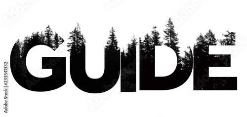 Guide word made from outdoor wilderness treetop lettering Tablou Canvas