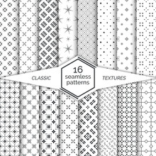 Big Set Of Seamless Patterns
