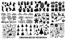 Doodle Big Set ,christmas Element Icons Banner Isolated Background . EPS10 Vector File Organized In Layers For Easy Editing.