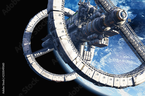 Space station. Canvas Print
