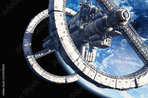 Obraz na płótnie Space station.