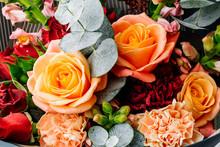 Colorful Bouquet Of Flowers. Flower Shop Concept.