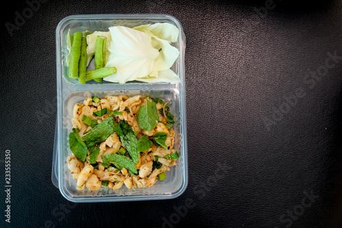 Thailand cuisine in box at vegetarian festival