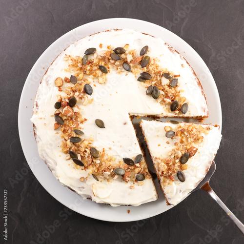 Fototapety, obrazy: carrot cake slice