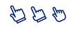 Clicking hand icons, cursor pointer vector set
