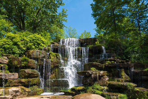 Waterfall Cascading Down Large Stones