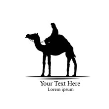 Bedouin On A Camel Silhouette ...