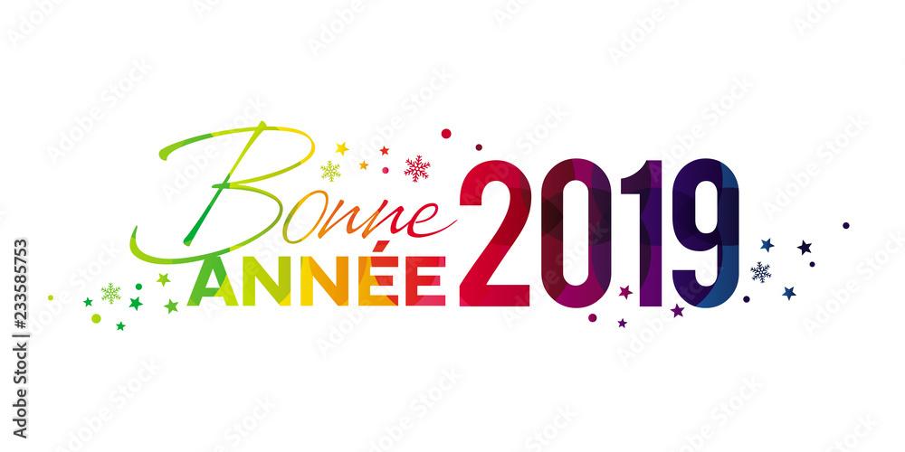 Fototapety, obrazy: Bonne Année 2019