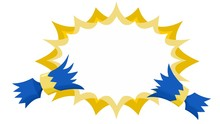 Christmas Cracker Pulled With Flat Starburst No Outline In Blue And Gold