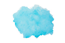 Sky Blue Watercolor Background...