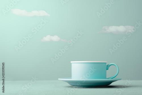 Fototapeta Cup and clouds obraz na płótnie