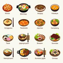 Korean Food Vector Illustratio...