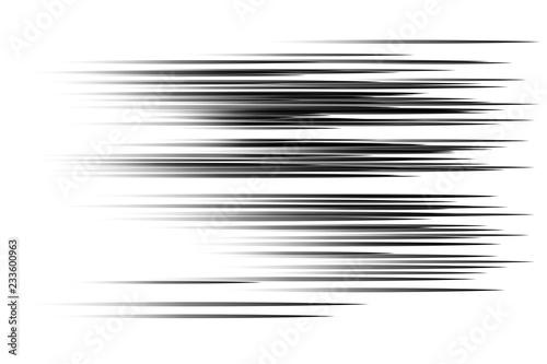 Black speed lines Canvas