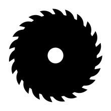 Black Circular Saw. Vector Sig...