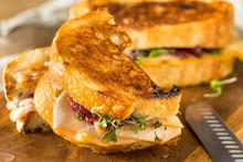Homemade Thanksgiving Turkey Panini