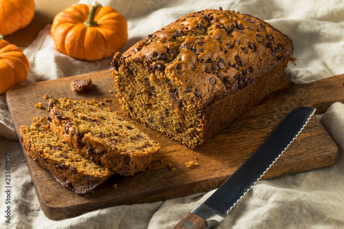 Canvas Prints Bread Homemade Chocolate Chip Pumpkin Bread
