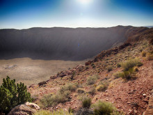 Well Preserved Meteor Crater I...