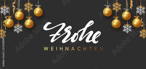 Frohe Weihnachten Und Happy New Year.German Text Frohe Weihnachten Merry Christmas And Happy New Year