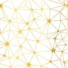 Gold White Stars Network Vecto...