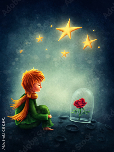 Illustration of little prince Tablou Canvas