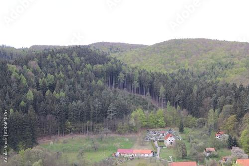 Fotobehang Donkergrijs Spring landscape, photo Czech Republic, Europe