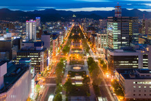 Cityscape Of Sapporo At Odori Park, Hokkaido, Japan.Sapporo Is The Fourth Largest City In Japan..
