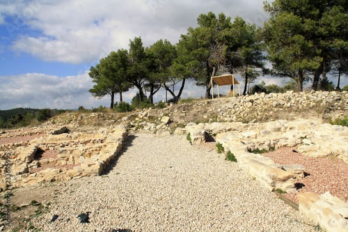 Foto  Iberian archeological site El Puig Alcoy Alicante Spain