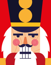 Face Of Nutcracker Soldier Toy...