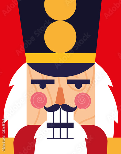 Cuadros en Lienzo  face of nutcracker soldier toy icon