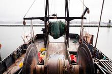 High Angle View Of Fishing Boa...