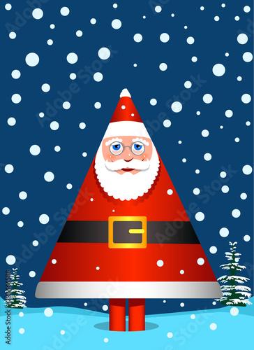 Fotografija  Santa Claus like pine tree1