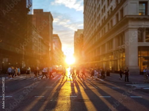 Photo  People cross busy intersection on 23rd Street in Manhattan New York City with th