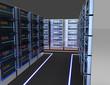 3D internet servers concept. 3d illustration