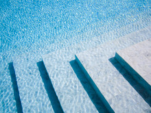 Stairs In Swimming Pool, Blue ...