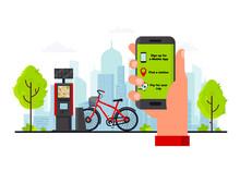 Bike Rental Service Concept Ve...
