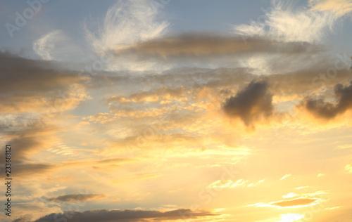 Foto op Plexiglas Zonsondergang Sky with clouds