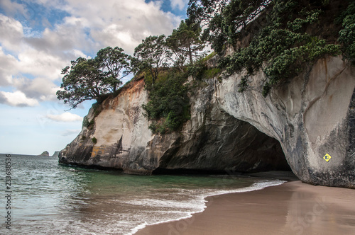 Stickers pour portes Cathedral Cove Coromandel peninsula