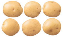 New Potatoes Set Isolated On W...