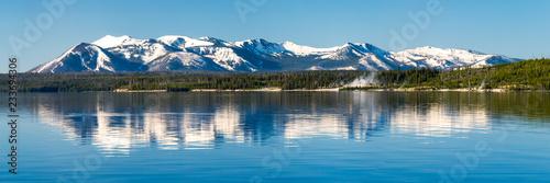 Stampa su Tela Beautiful Yellowstone Lake in Yellowstone National Park, USA
