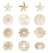 Luxury Star Logos. Golden Busi...