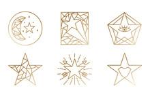 Geometric Star Logos. Business...