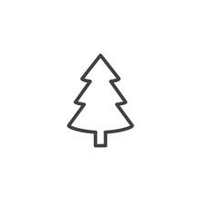 Xmas Spruce Tree Outline Icon....