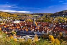 Münden Panoramablick Im Herbst