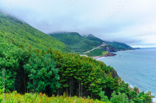 Fotografiet Landscape (near Cap Rouge) along the Cabot Trail