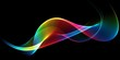 canvas print picture - Abstract rainbow light wave futuristic background