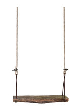 Wooden Swing Isolated