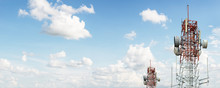 Signal Tower On Blue Sky
