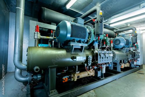 Fotografía  Ammoniak Kälteanlage, Kühlung für Gewächshäuser, redundant mit Spitzenlast Absic