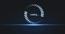 Loading Symbol On Blue Light B...