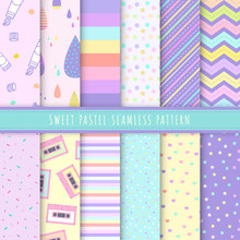 Sweet Pastel Seamless Pattern ...